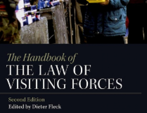 Jurisdiction and the Law of Visiting Forces